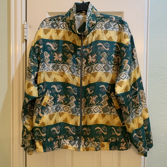 Vintage 80/'s multi color plaid wool mohair baseball bomber jacket